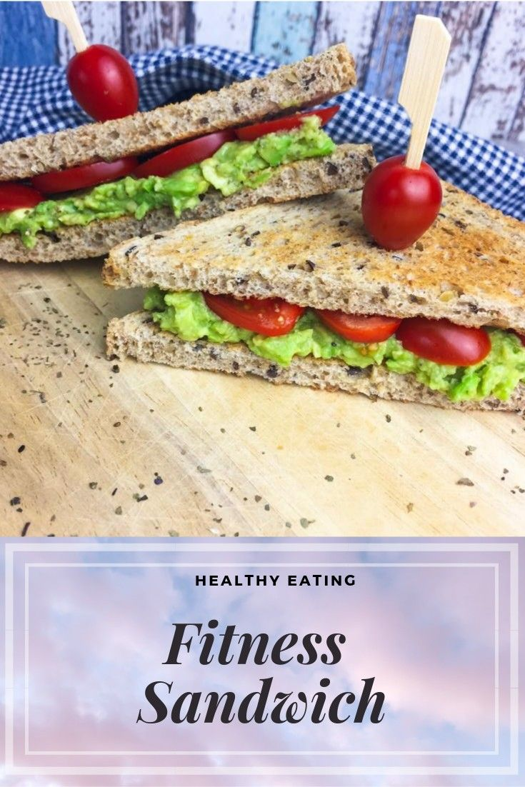 Healthy Eating Fitness Sandwich