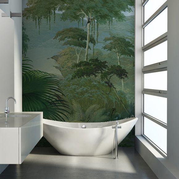 idée papier peint derrière canapé Papier peint panoramique Lombok
