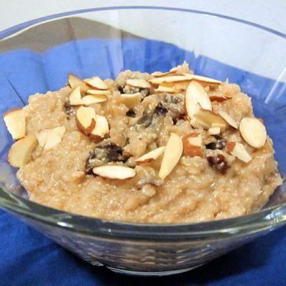 Vegan Quinoa Porridge - note from The Kitchen Skinny: just skip the maple syrup ( you won't miss it with the sweetness of the raisins/prunes ) & this is a healthy yummy looking recipe.