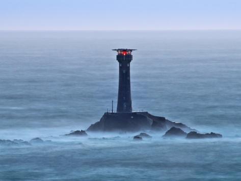 Longships Lighthouse, Lands End, Cornwall, England, United Kingdom, Europe