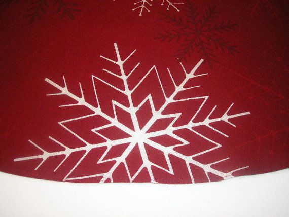 Rustic Christmas Tree Skirt 58 inches Red christmas tree skirt. by HedgehogKingdom #shopping #gifts #shopsmall
