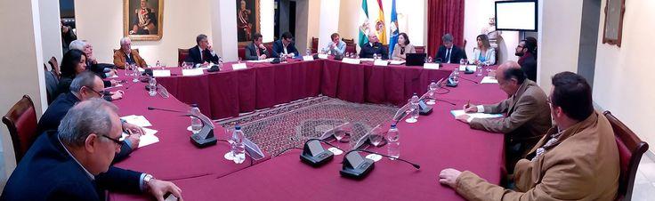 Reunión de la Comisión organizadora de los actos conmemorativos del 250 Aniversario de la Creación de Ayuntamiento propio y San Fernando como ciudad, con el objetivo de aprobar los objetivos generales de la programación de esta efemérides que se celebra en 2016. 21 de diciembre de 2015.