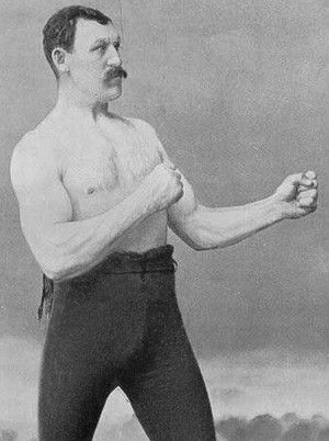 "Mike Conley, the man behind the ""overly manly man"" meme, was a heavyweight bare knuckle boxing champ in the 19th century"