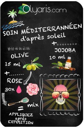 Comment combattre ce sacré coup de soleil qui vous rend toute rose ? Avec cette formule d'huiles végétales et essentielles d'Olyaris à base d'huile d'olive. Ah, la méditerrannée !