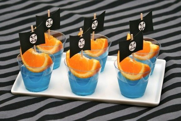 Pirate Party Jello Boats- Jake and the Neverland Pirates party