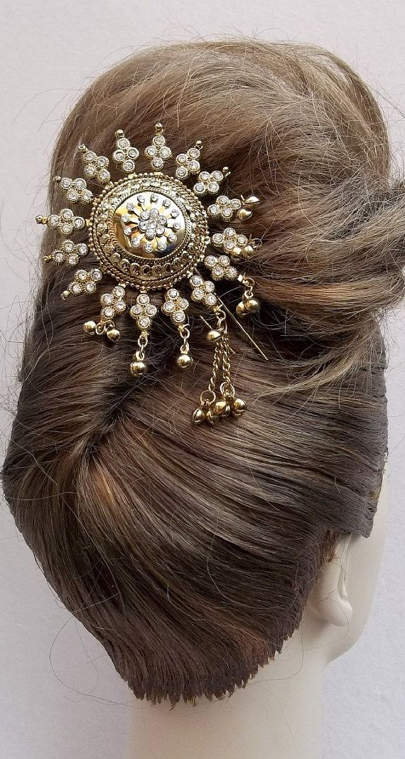 Vintage hair comb Indian Bollywood hair by ElrondsEmporium on Etsy, $25.00
