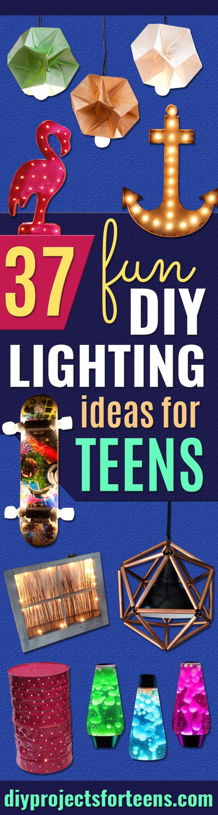 DIY Lighting Ideas for Teen and Kids Rooms - Fun DIY Lights like Lamps, Pendants, Chandeliers and Hanging Fixtures for the Bedroom plus cool ideas With String Lights. Perfect for Girls and Boys Rooms, Teenagers and Dorm Room Decor