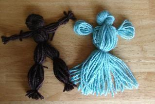 Yarn Doll Craft- Warm As Wool or other pioneer unit study