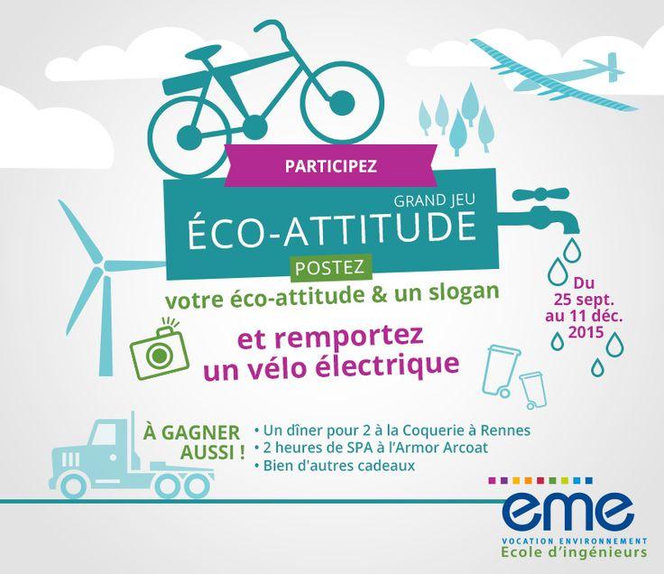 Ecole des Métiers de l'Environnement - Jeu-concours Eco Attitude : https://www.facebook.com/ecole.eme/app_603171703028453
