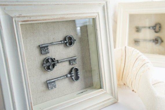 Skeleton keys in frame