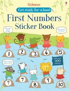 This fun book is a perfect way for little children to learn their first numbers. They can count with the animals and add stickers to every page. For ages 4+