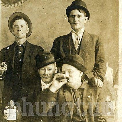 Vintage RPPC Bad Boys  Black & White Buddies with by phunctum, $15.00