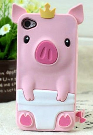 NEED AN iPhone SO I CAN GET THIS!!!!!!  Pink 3D Pig Silicone Case Cover Skin for iPhone 4S 4G