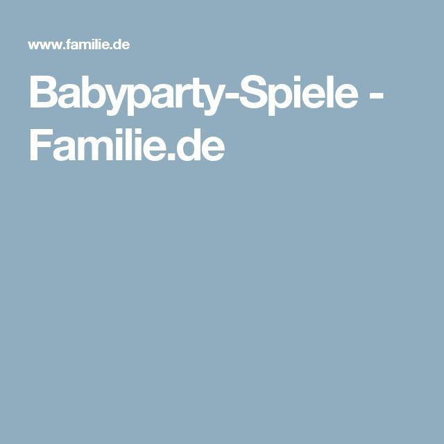 Babyparty-Spiele - Familie.de