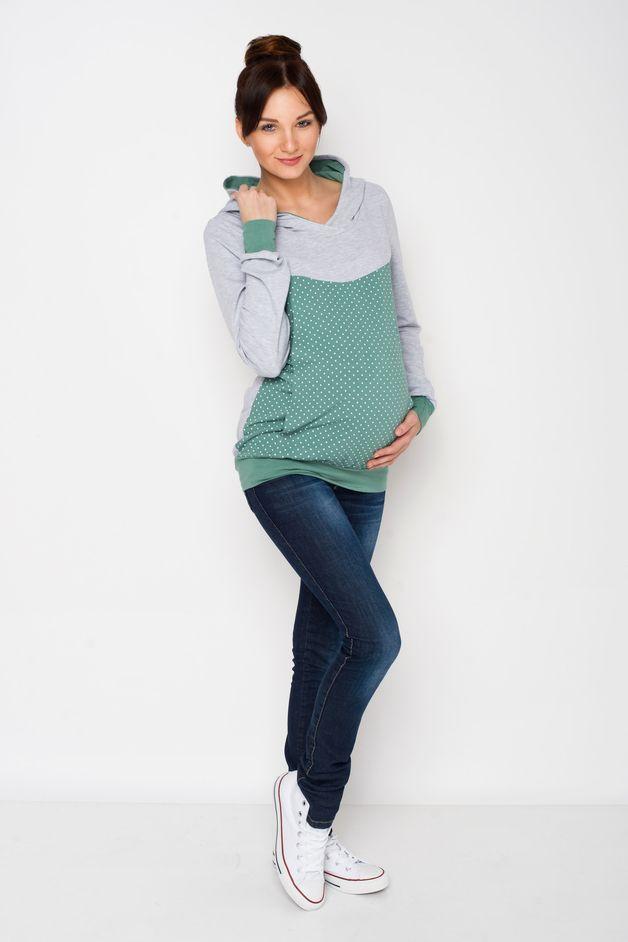 Umstandsshirt, Stillshirt, Kapuzenpullover // maternity hoodie, sweater by AgnesH. via http://DaWanda.com