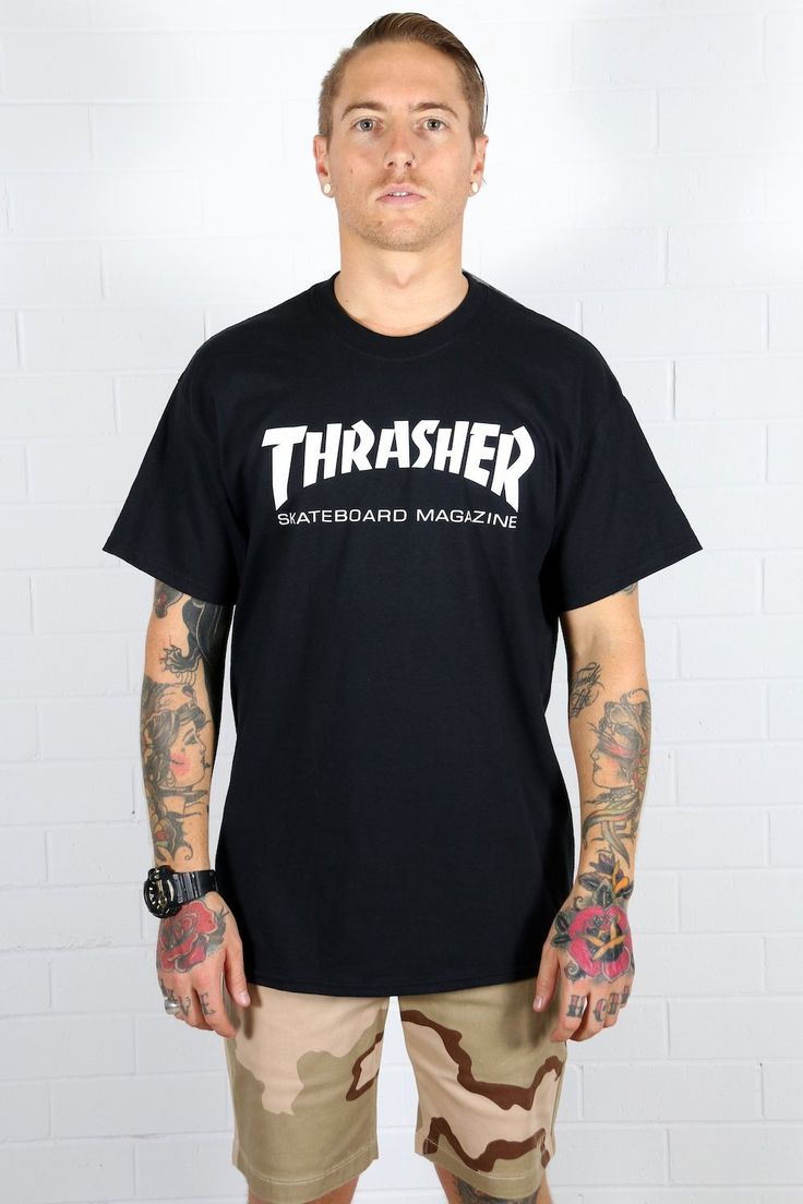 THRASHER MAGAZINE - Thrasher Skate Magazine Logo Tee - Black