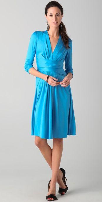 Issa sky blue wrap dress