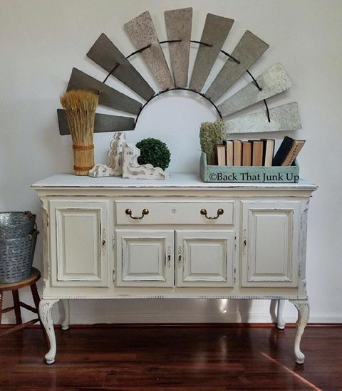 Buttercream...so yummy, so many shades of white with Dixie Belle Paint...Back Your Junk Up loves to work with chalk paint...great at it too, we think