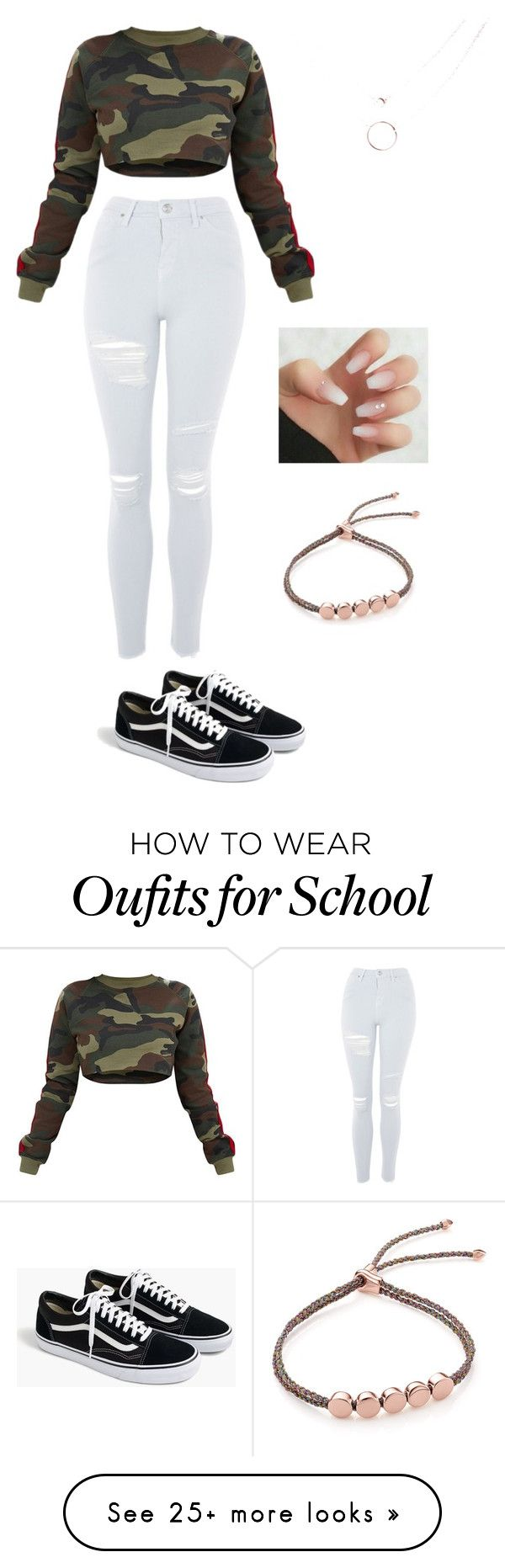 """outside school"" by xokaiden on Polyvore featuring Topshop, J.Crew and Monica Vinader"