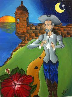 Pintura de Don Quijote en Puerto Rico de Félix Vega