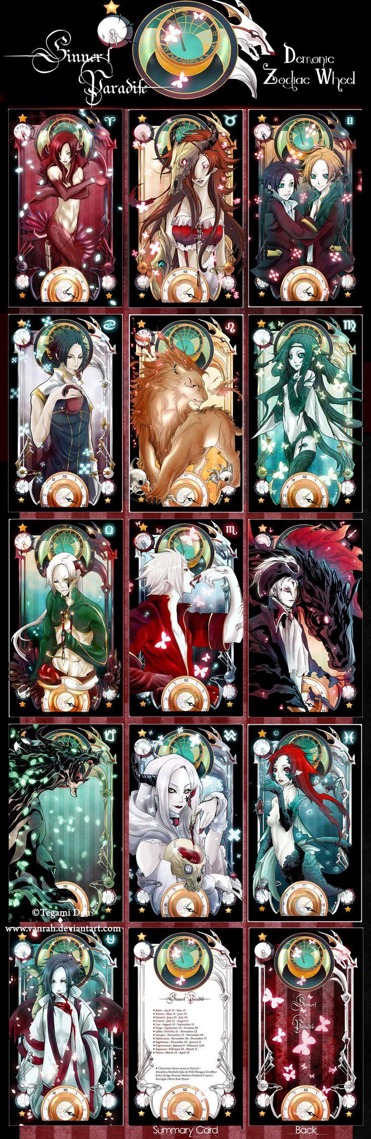 +Sinners'Paradise - Demonic Zodiac deck+ by *VanRah on deviantART