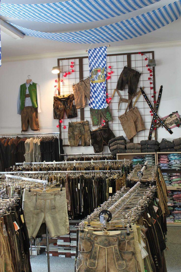 Im Trachten Outlet von Trachten Rausch, Bayerstr. 57, 80355 München - große Lederhosen Auswahl