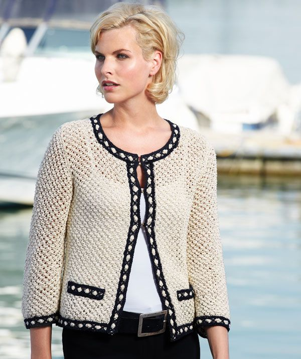 Schachenmayr Yarns Chanel style Ladies Jacket, 1907 free pattern