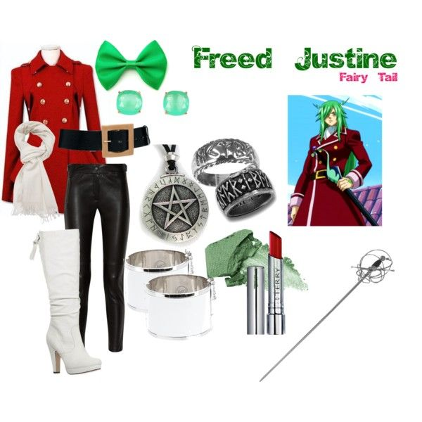 """""""Freed Justine"""" from the anime series Fairy Tail, by aliazuras on Polyvore"""
