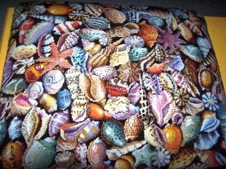 Kaffe Fassett shells needlepoint