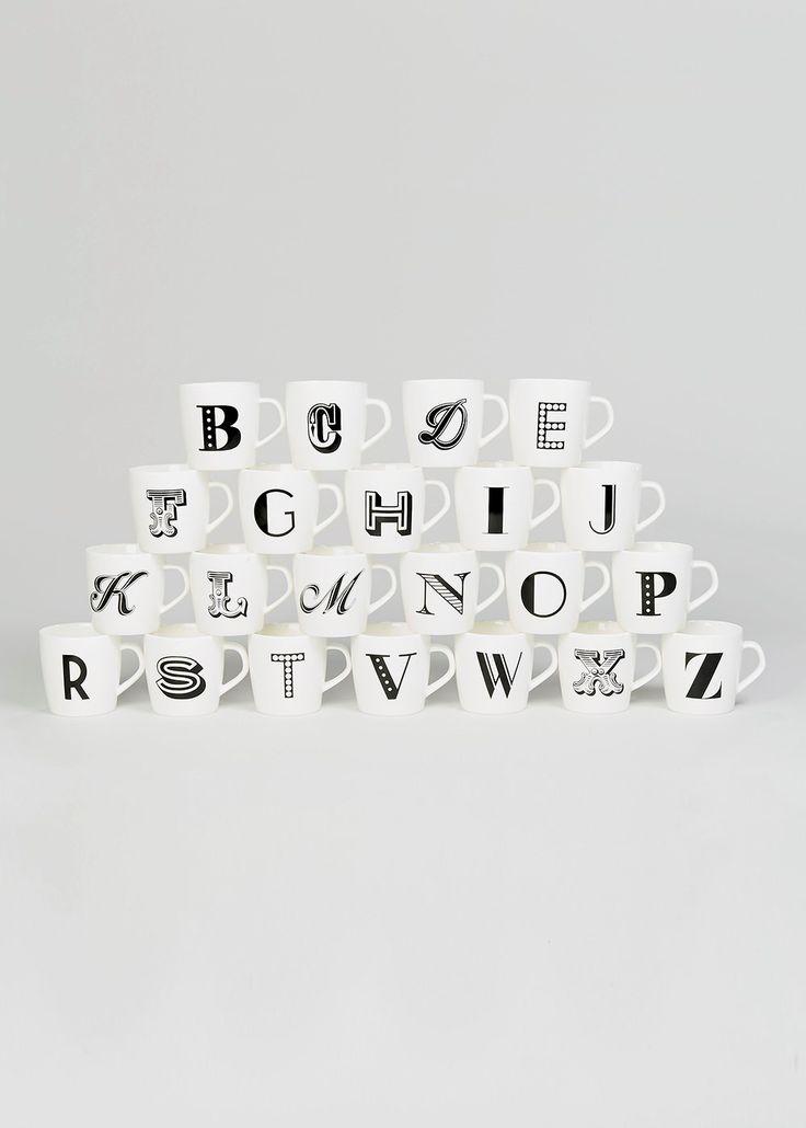 Alphabet Letter Mug (9cm)