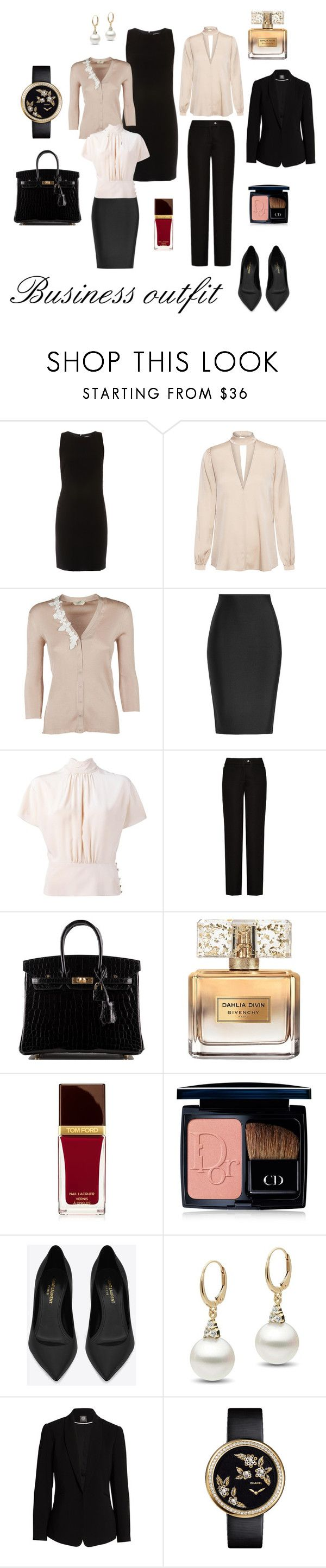 """""""business outfit II."""" by marcela-plocher on Polyvore featuring ELLIOTT LAUREN, A.L.C., Fendi, Roland Mouret, RED Valentino, Acne Studios, Hermès, Givenchy, Tom Ford and Christian Dior"""