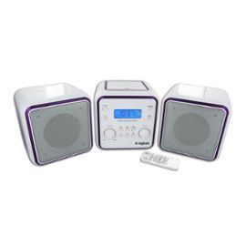 MICRO CHAINE RADIO CD MP3 USB BLANCHE + 3 SETS DE COULEURS