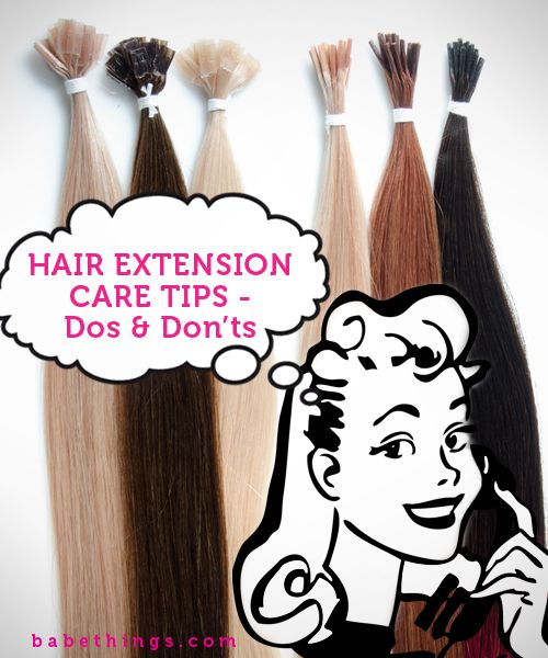 Important #Hair Extension Care Tips that you need to know!