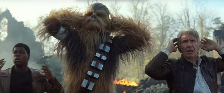 Han Solo, Chewbacca, and Finn caught by who?: