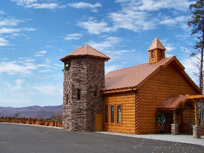 Chapel On The Mountain Beautiful Views Bearfoot Memories Offers A FREE Banquet Facillity With Gatlinburg WeddingsGatlinburg