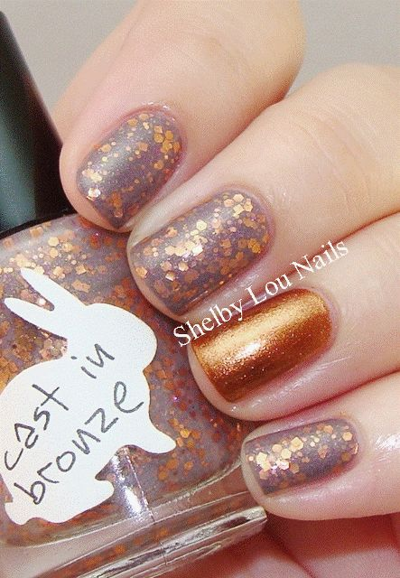 Hare Polish - Cast In Bronze, accent of China Glaze - Harvest Moon