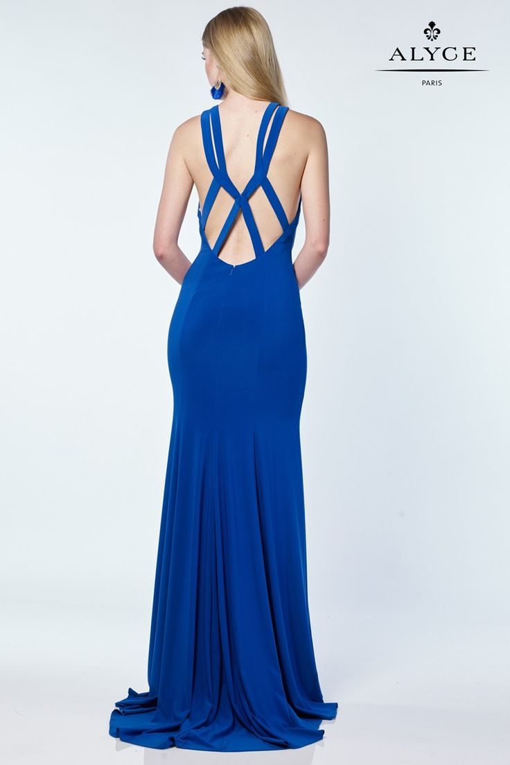 Closet triangle cut out back dress - Dress Style 1211 Royal Blue Back Cut Outs Prom Dress