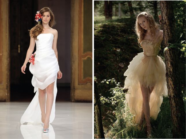 {Bridal Fashion} : Mullet Wedding Dresses - Party In The Front, Princess In The Back | bellethemagazine.com