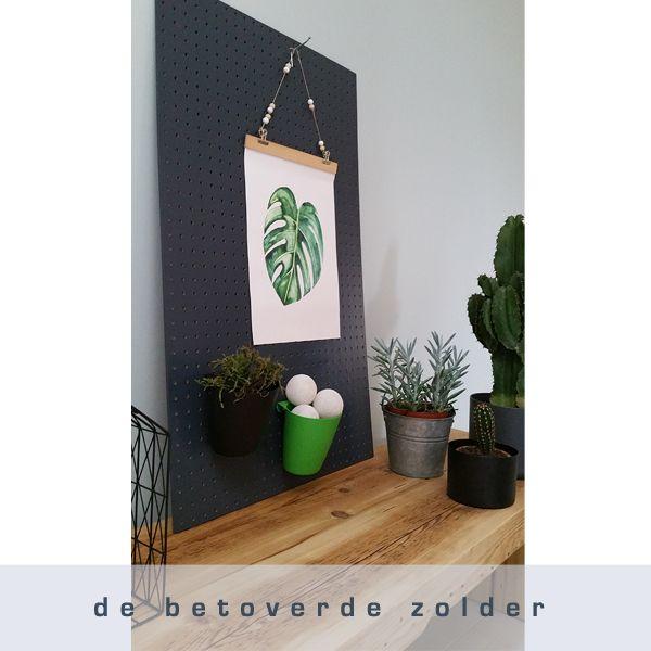 Pegboard (gaatjesbord) verkrijgbaar in diverse kleuren.