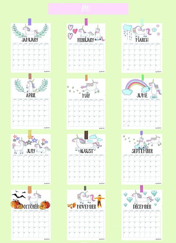 Printable Calendar Pages 2019, 2019 Calendar, Printable Calendar