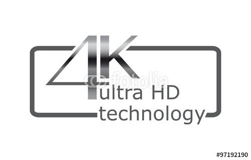 """Laden Sie den lizenzfreien Vektor """"4K technologie"""" von Davidus zum günstigen Preis auf Fotolia.com herunter. Stöbern Sie in unserer Bilddatenbank und finden Sie schnell das perfekte Stockbild für Ihr Marketing-Projekt!"""