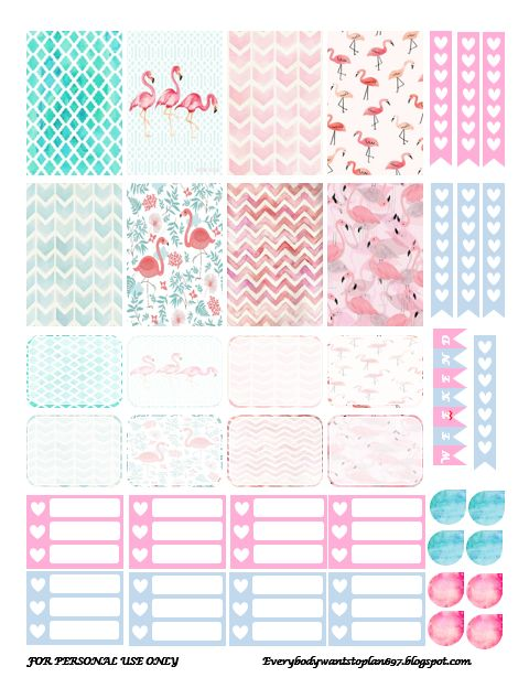 Free Flamingo Planner Stickers | Everybody Wants To Plan