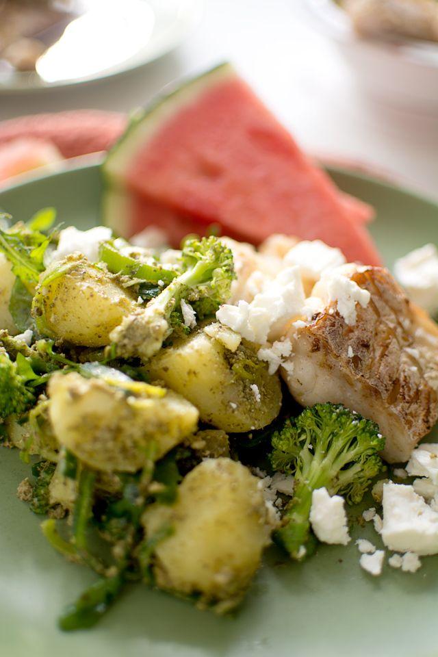 Smörstekt torsk med grön potatissallad | Middagstips & enkla recept på vardagsmat