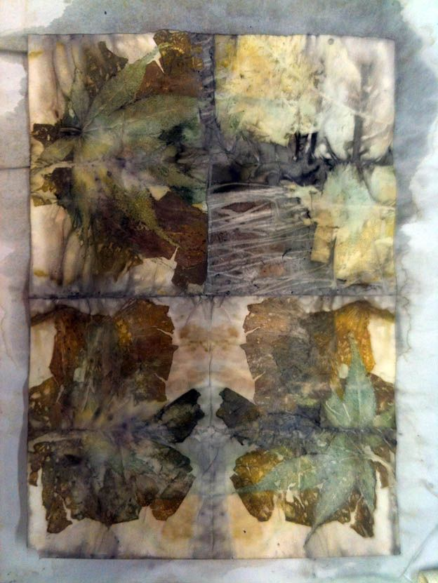 India Flint - Marks on Paper with bio-regionally gathered, ecologically sustainable plant dyes