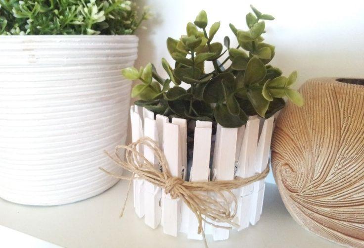 Windlicht / Blumentopf DIY aus Wäscheklammern Matildas World Blog