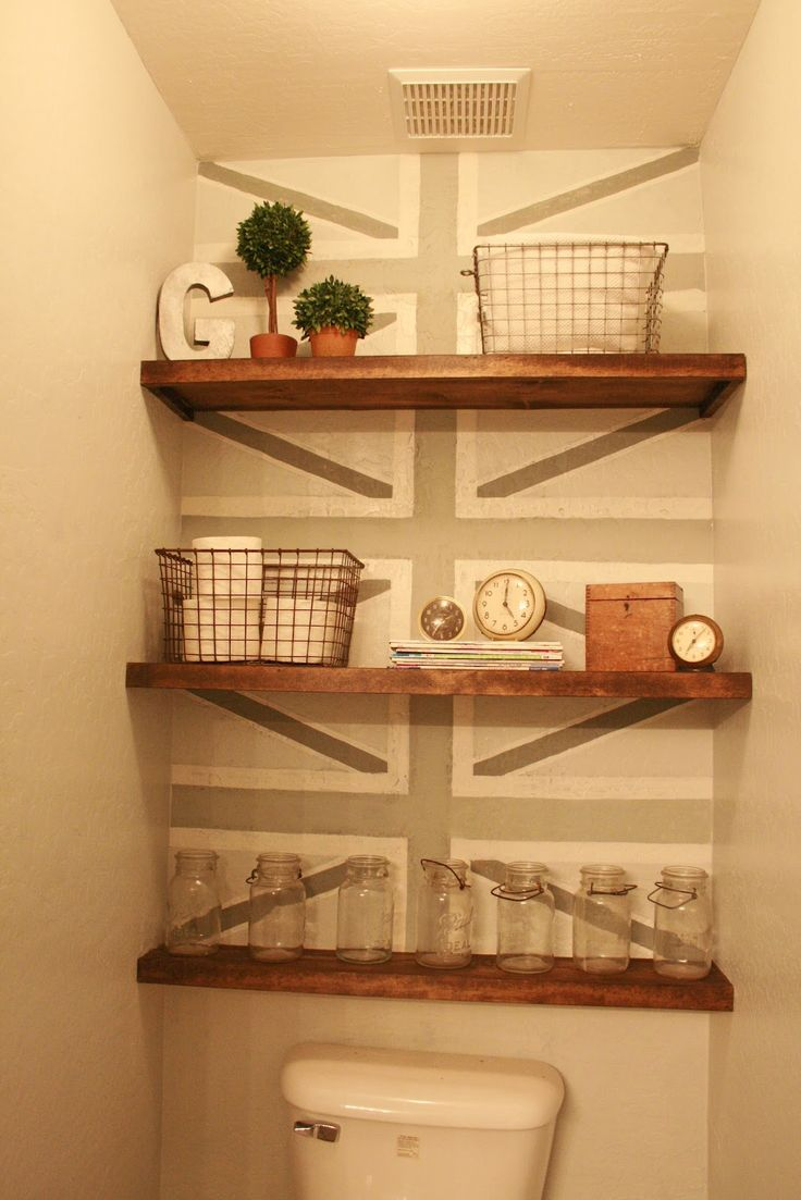Love this! Don't know if I'll do the stenciling, but I love the shelves. What a cheap, easy storage solution.