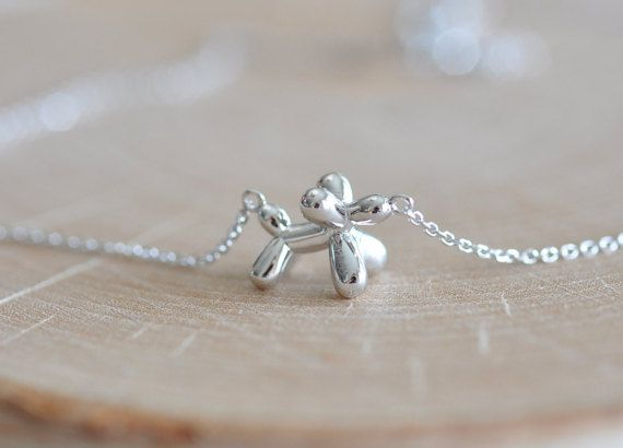 Balloon Dog Necklace in Sterling Silver 925 Dog by JamberJewels