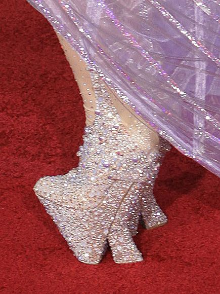 Yap.. you are suppose to walk on it.. Lady Gaga's shoes