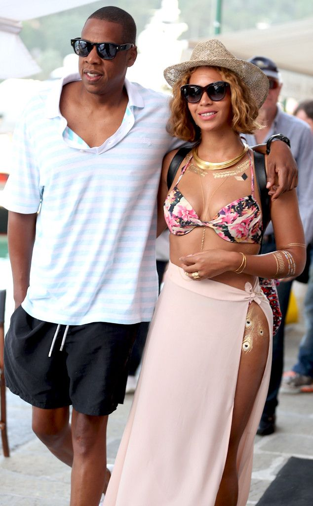 Beyoncé Works Her Floral Bikini as Romantic Birthday Vacation With Jay Z Continues?See the Pic! | E! Online Mobile