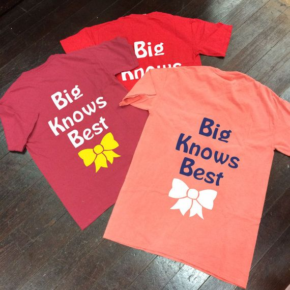 Big Knows Best Bow Sorority Monogram Comfort by CampusConnection, $27.00
